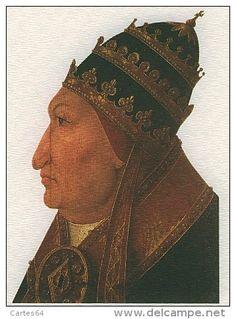 Engraving Pope Alexander VI (1431-1503)