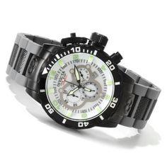 Invicta Men's 10508 Corduba Chronograph Mother-Of-Pearl Dial Grey Polyurethane Watch