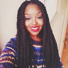 Pics For > Thick Marley Twists