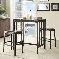 HomeVance 3-pc. Denslow Bistro Set
