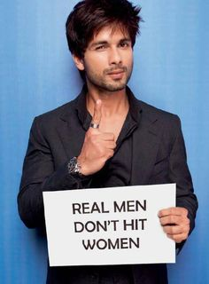 Bollywood Actors Latest Photoshoot for 'Real Men Don't Hit Women' Campaign