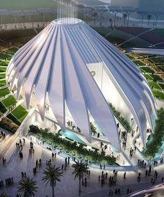 santiago calatrava's UAE pavilion for dubai expo 2020 breaks ground - Gebäude - Architecture Architecture Durable, Architecture Résidentielle, Chinese Architecture, Futuristic Architecture, Sustainable Architecture, Amazing Architecture, Contemporary Architecture, Contemporary Design, Contemporary Houses