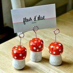 Tappo a Fungo. Art Design segnaposto a tavola con nome ospite