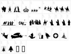12 days of christmas silhouttes - Google Search