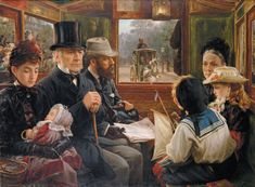 Alfred Morgan, 1885 An Omnibus ride to Piccadilly Circus, Mr. Gladstone travelling with ordinary passengers Oil on canvas Private collection Piccadilly Circus, Human Painting, Oil Painting On Canvas, Painting Art, Classic Paintings, Beautiful Paintings, Art Moderne, Street Artists, Victorian Era