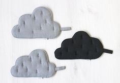 sewing project: hot holders set of 3 storm clouds
