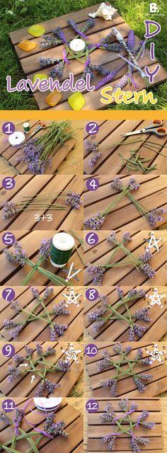 How to make a lavender star / pentagram. nature craft DIY / Lavendel Stern Anleitung ~ Buntwerkstatt.at