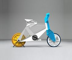 Frii tri-color bike is made from recycled plastic