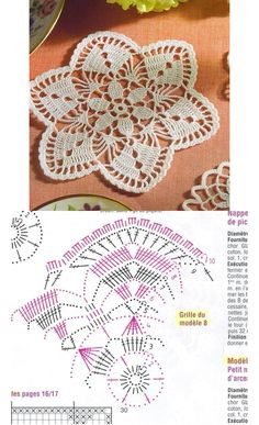 Filet Häkeln Tischdecke -  filet crochet doily