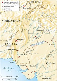 Harappa and mohenjo daro map of the indus river civilizations settlements of the indus valley civilsation located in modern pakistan india and afghanistan gumiabroncs Image collections