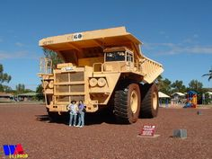Yes the trucks in the mining industry of the Pilbara area of Western Australia are not exactly small. This pic was taken in WICKHAM | Western Australia http://www.wanowandthen.com/wickham.html