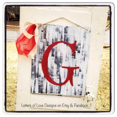 Large Painted Letter Wood Sign  Initial for Door art, wedding decor, bride and groom, present, gift, and more.