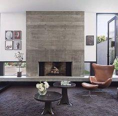 Concrete Fireplace. LOVE!!!!