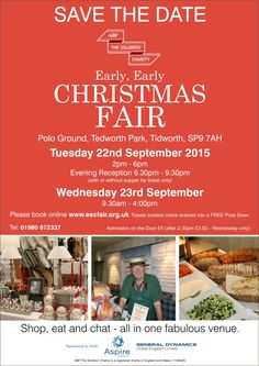 Early, Early Christmas Fair – ABF The Soldier's Charity Polo Grounds, Clc, Books Online, Save The Date, Charity, Christmas, Xmas, Navidad, Noel