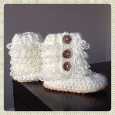 Crochet Toddler Loop Boots