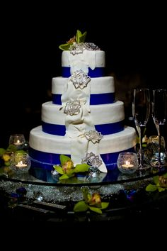 Blue Wedding Cake Memphis Weddings Southern Event Planners