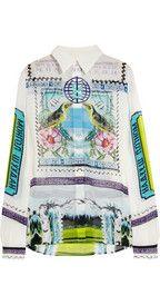 Mary KatrantzouGala printed silk-georgette blouse - So love her designs!