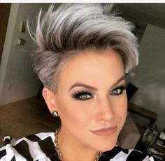 Today we have the most stylish 86 Cute Short Pixie Haircuts. We claim that you have never seen such elegant and eye-catching short hairstyles before. Pixie haircut, of course, offers a lot of options for the hair of the ladies'… Continue Reading → Long Pixie Hairstyles, Short Pixie Haircuts, Short Hairstyles For Women, Summer Hairstyles, Hairstyles 2018, Funky Hairstyles, Short Hair Cuts For Women Pixie, Undercut Pixie Haircut, Pixie Haircut Styles