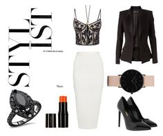 """""""Untitled #89"""" by barbora-rihoutova on Polyvore featuring Alexander McQueen, Rick Owens, CLUSE, Monica Rich Kosann, Alexandre Vauthier and Yves Saint Laurent"""