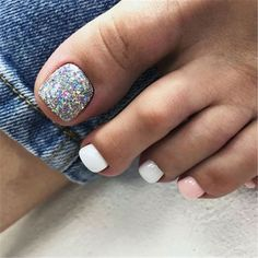 There are many toe nail designs to provide only the freshest ideas to your attention. Get These Amazing Toe Nail Colors To Choose In Fall Toe Nails, Pretty Toe Nails, Cute Toe Nails, Summer Toe Nails, Glitter Toe Nails, Summer Shellac Nails, Toe Nail Color, Toe Nail Art, Nail Colors