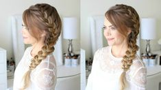 Side French Braid – We have the latest on how to get the haircut, hair color, and hairstyles you want for the season! Amazing Side French Braid For 2019 Trends Side French Braid Saree Hairstyles, Prom Hairstyles For Long Hair, French Braid Hairstyles, Braids For Short Hair, Trendy Hairstyles, Wedding Hairstyles, Holiday Hairstyles, Easy Hairstyle, School Hairstyles