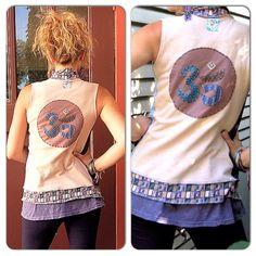 Upcycled Clothing, Eco VEST, Artisan Wrap, patchwork,hippie,festival, asymmetrical, Om applique  size S/M , by Zasra. $75.00, via Etsy.