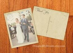 100 Vintage Wedding Thank You Postcards with by DesignedByBrenda, $111.99