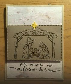 Homemade Christmas Cards, Stampin Up Christmas, Christmas Cards To Make, Holiday Cards, Christian Christmas Cards, Religious Christmas Cards, Stampin Up Weihnachten, Hanukkah Cards, Stampinup
