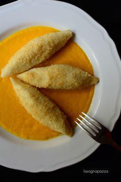 9.Gnocchi ripieni di formaggio caprino su passata di carote al cumino di Mari