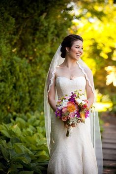 Stunning bridal shot!!  by #GenevieveLeiperPhotography in gardens @Oatlands.  Makeup by Barbara / Hairstyling by Mandy