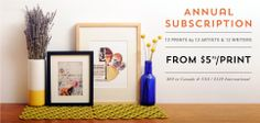 sweet! it's an art subscription service.