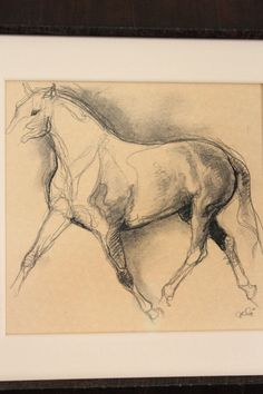 charcoal horse drawing