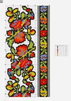 Cross Stitch Borders, Cross Stitching, Cross Stitch Embroidery, Embroidery Patterns, Cross Stitch Patterns, Bargello Patterns, Loom Patterns, Knitting Stitches, Needlepoint