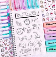 New date header that you can use in your bullet journal or study notes ? Apuntes Bonitos ✍️ New date header that you can use in your bullet journal or study notes ? Bullet Journal Inspo, Bullet Journal Banner, Bullet Journal Writing, Bullet Journal 2020, Bullet Journal Aesthetic, Bullet Journal Ideas Pages, Bullet Journal Layout, Bullet Journal For School, Bullet Journal Headers And Banners
