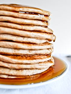 Greek Yogurt Pancakes I howsweeteats.com