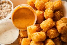 The Grilled Cheese Truck - Tots & Dipping Sauce