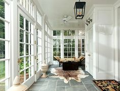 Sunroom with French Doors. Lovely Sunroom with French Doors. Traditional Porch, Traditional Interior, Contemporary Interior, Traditional Design, Three Season Room, Sunroom Decorating, Sunroom Ideas, Porch Ideas, Sunroom Furniture