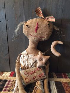 Primitive Doll OOAK by AnOldCrowsJourney on Etsy