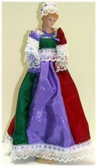 Laura Lady In Waiting Handmade Victorian Candlestick and Porcelain Head Art Doll by Linda Walsh