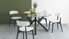 Mikado Table by Connubia Calligaris in Graphite Wood with Siren Chairs Dining Furniture, New Furniture, Furniture Design, Dining Chairs, Modern Dining Table, Furniture Collection, Modern Lighting, Stool, Indoor