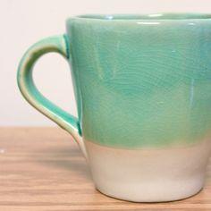 crackle glaze mug