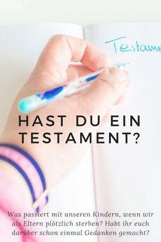 Testament und Sorgerechtsverfügung für Eltern
