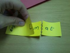 Reading fluency and rhyming with word families. (just staple strips of paper together)