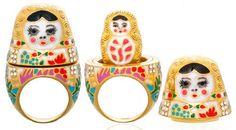 noir jewelry - natasha, babushka ring inspired by the matryoshka russian doll