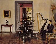 SULHO SIPILA  Joulukuusi ja Omakuva (1929)