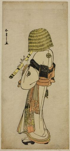 Katsukawa Shunsho, 1726-1792, The Actor Nakamura Nakazo I as Kakogawa Honzo in Komuso Attire in the Play Kanadehon Chushingura,