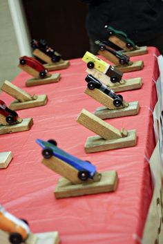 Pinewood Derby stands
