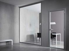 Hinged tempered glass door VETRA by CONNECTICUT
