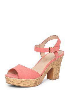 3f5ea2b7fef Pink  Romana  Platform Wedge Sandals. Vintage Inspired ...