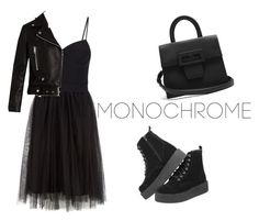 """monochrome"" by karma-yoseob on Polyvore featuring Alexander Wang, Acne Studios and Maison Margiela"